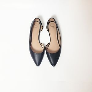 A New Day Pointed Toe Black Flats Size 7.5